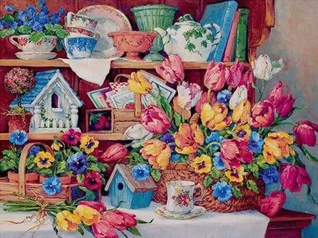 still life - flowers, still life, paintings, beautiful