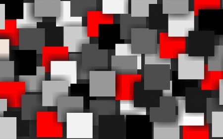 Squares - abstract, vector, red, grey, black, white