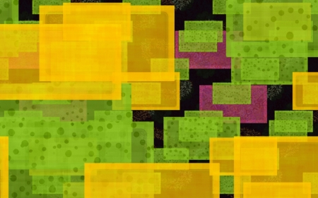 Squares - yellow, abstract, green, squares, vector