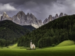 Saint John Church Val di Funes Italy