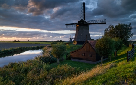 Windmill - farm, pasture, water, windmill