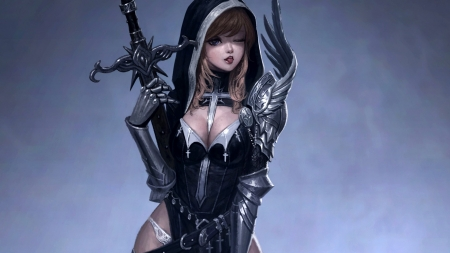 Holly knight - dark, sword, ecchi, knight