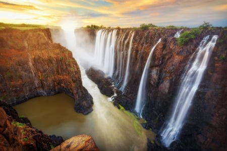 Valley Of Waterfalls - windows, desktop, wallpaper, Valley Of Waterfalls