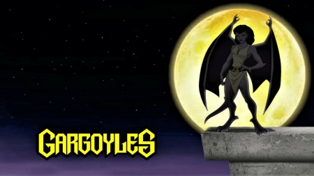 Angela Gargoyle Wallpaper - goliath, gargoyles, brooklyn, hd wallpapers, dragon wings, cartoon, 1920x1080 only, angela, anime, animation, desktop nexus, desktop backgrounds, tv series, demona