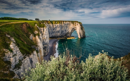 Coast of France - France, cliffs, sea, coast