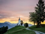 Church at Sunrise in Slovenia