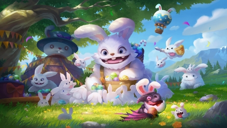 Infinity Kingdom - easter, fantasy, bunny, kumu, rabbit