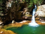 The plunge pool at Blue Hole Falls, Cherokee National Forest