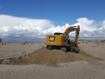 Excavating at the Beach, California