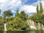 Waterfalls in Krka National Park in Croatia