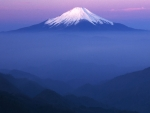Fuji in purple mist