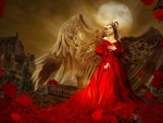 Angel in red