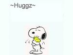 snoopy woodstock hug peanuts