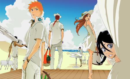 Lets go to the beach - bleach, characters