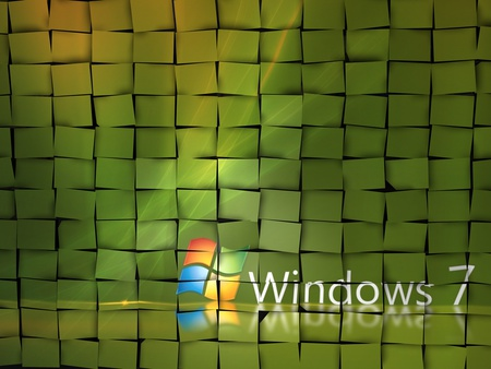 Windows seven mosaic - windows, 3d, mosaic, abstract, windows seven, xp