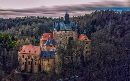 Kriebstein Castle Saxony - building, forest, photography, castle