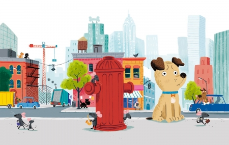 Winston Was Worried - hydren, mouse, dog, winston, city
