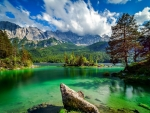Eibsee lake in Bavaria