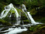 Panther Creek Falls in southern Washington state looks amazing after rainfall