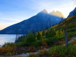 Last rays of sunlight in the Grand Tetons