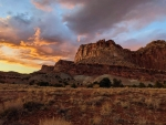 Sunset in Capitol Reef National Park, near Capitol Gorge