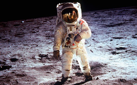 Original moonwalk - moon, space, nasa, apollo, 60s