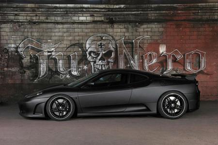 Flat Black - f430, ferrari