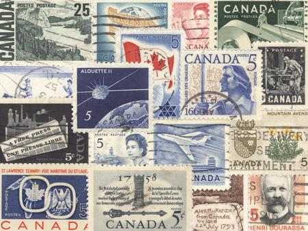 POST WAR CANADIAN STAMPS - post, war, canadian, stamps