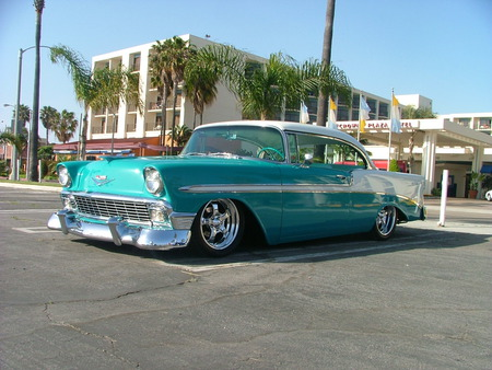 1955 Chevy, slammed - cars, chevy, hot rods