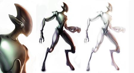 Alien Robot  - cool, abstract, artwork