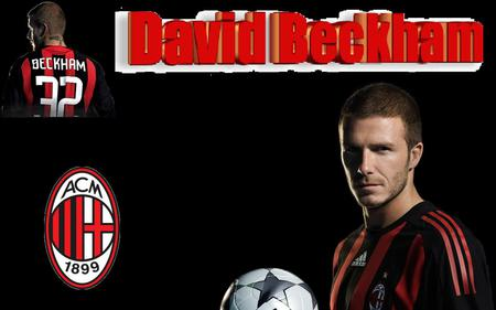 David Beckham - soccer, beckham, hot, ac milan, david
