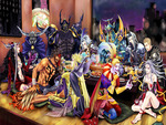 cloud of darkness dissidia final fantasy exdeath gabranth garland golbez jecht kefka palazzo kuja sephi