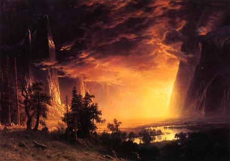 Albert Bierstadt Yosemite Valley Mountains Nature