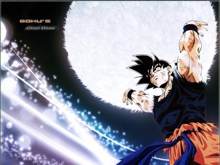 Gokus Spirit Bomb Dragonball Anime Background Wallpapers On