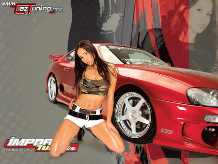 Import Girls And Cars Cars Background Wallpapers On Desktop