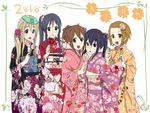 akiyama mio hirasawa yui japanese clothes k on kimono kotobuki tsumugi nakano azusa tainaka ritsu