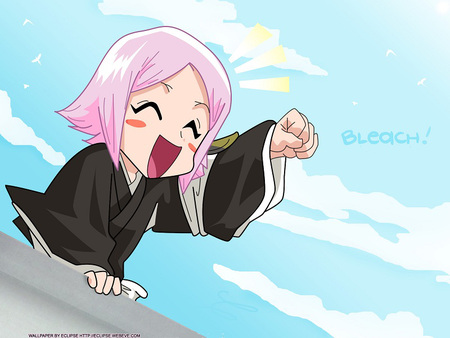 kusajishi_yachiru - bleach, female, yachiru, sky, women, girl, anime, kusajishi, anime girl