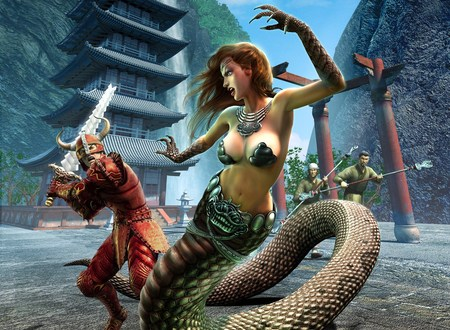 Everquest - everquest, rpg, video game, snake girl, game, warrior
