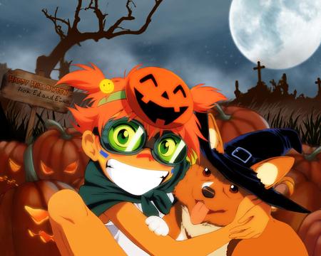 Cowboy Bebop Halloween - halloween, spike, bounty hunters, anime, ein, jet, ed, faye, cowboy bebop