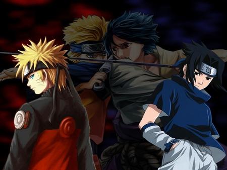 Naruto - sakura, the nine tailed fox, anime, kunai knives, ninja, kakashi, naruto, itachi, chakra, sasuke, ino, gaara