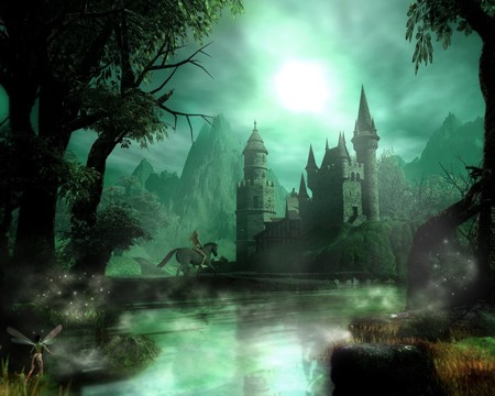 Dark Castell - fantasy art, fantasy, dark art, graphics
