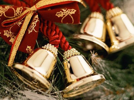 Christmas Bells - bells, christmas, cold, merry christmas, winter, xmas, x-mas, holidays, christmas bells, feast