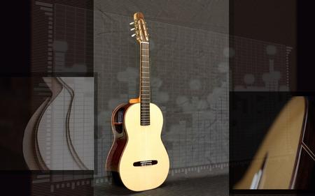Guidar Art - song, brown, wood, guitar, music, dark