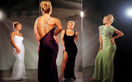 Jaime Pressly - mirrors, beautiful, dress, woman