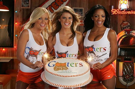 Gooters - hooters, woman, model, girl, hot