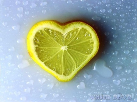 Lemon Love - citrus, sour, lemon, heart, sweet, love