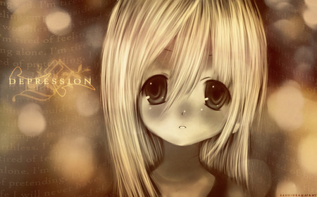 Depressed Little Girl Other Anime Background Wallpapers On Desktop Nexus Image 274818