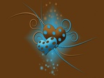 beautiful love vector in bown