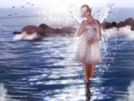 sea fairy - sea, fairy