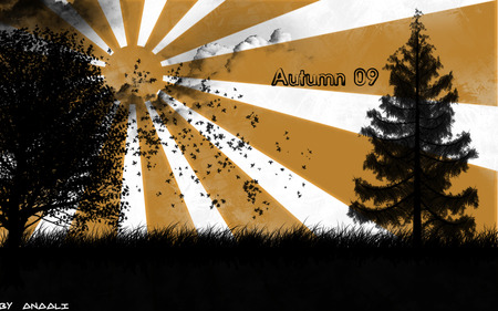 Autumn 2009 - autumn, brushes, 2009, nature, cs4, photoshop, adobe, weather